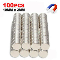 100PC N35 Super Strong 10mm x 2mm Round Disc Magnets Rare Earth Neodymium Magnet