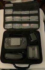 Sega Game Gear Handheld Console w/ Case & 9 Games - Tested - Vintage Rare WORKS