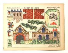 Pellerin Imagerie D'Epinal- 1238 Petites Construction Maison De L'Ogre vintage