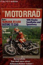 Das Motorrad 20/75 Yamaha XS 650 Suzuki TS 250 Jawa
