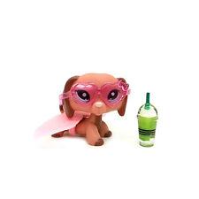 """LPS #2046 Figure Peach Brown Dachshund LITTLEST PET SHOP TOY 2"""" Accessories"""