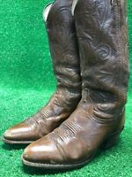 Vintage Dan Post Brown Cowboy Western Boots WoMen's SiZe 6.5 D Fast Free Ship