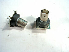 PCB MOUNT BNC FEMALE JACK WITH FERRITE FILTER RING NEW  LOT OF 2