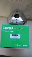 """Real Lucas 7 """" CHROME PHARE Coque JANTES Ampèremètre trou + 3 feux de détresse"""