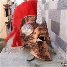 300 Spartan Leonidas King Medieval Greek Armor Helmet w Liner red MOVIE REPLICA