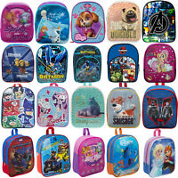 NEW KIDS CHILDRENS TODDLERS CHARACTER BACKPACK RUCKSACK LUNCH SCHOOL BAG JUNIOR