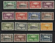 SIERRA LEONE 1938 Definitives Set of 16. MM SG188-200