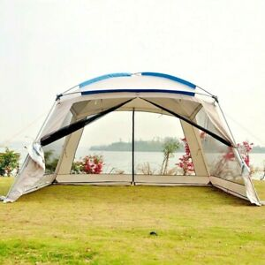 5-8 Person Large Sunscreen Camping Shelter Tent Summer Family Party Travel Tent