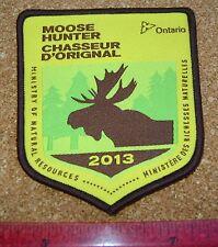 2013 ONTARIO MNR MOOSE HUNTING PATCH badge,flash,crest,deer,bear,elk,Canadian