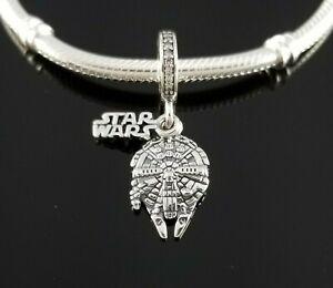 New Authentic Pandora Disney Exclusive STAR WARS Millennium Falcon Dangle Charm