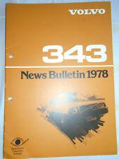 Volvo 343 News Bulletin brochure 1978 German text