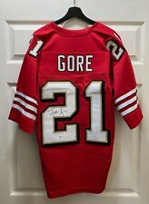 Frank Gore #21 Signed 49ers Jersey Autographed Sz XL BAS WITNESSED COA