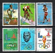 JO été Belize (1) série complète de 6 timbres oblitérés