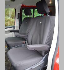 VW Transporter T5 R Line Waterproof Heavy Duty CAPTAIN SEATS Seat Covers Black