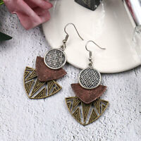 Fashion Boho Women Retro Geometric Hook Drop Dangle Earrings Jewelry Gift