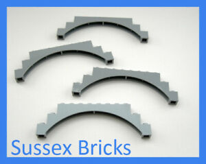 Lego Castle City 4x Light Bluish Grey Raised Arch 1x12x3 (6108 18838) New Pieces