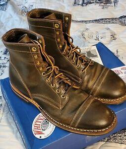 WHITE'S Service MP Olive Wax Toe Cap Boots 10 D $749 Dainite MPM1TCD