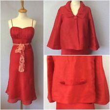 Tailleur e abiti sartoriali da donna rosso della giacca taglia 44