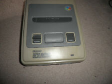 snes super nintendo console unit only some yellowing - fully tested