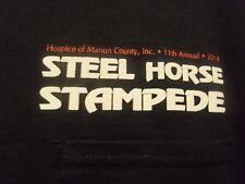 STEEL HORSE STAMPEDE black Hospice M t shirt