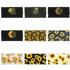 Long Wallet Sunflowers Handbags Leather Purse Fold Wallet Large Capacity Wallets