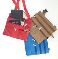 "Genuine Leather Cross Body Bag Satchel Messenger Bag 48"" Strap Handbag"