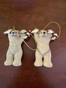 Big Sky Carvers Brrr Bears Polar Bear Ornaments with Candy Canes (2)