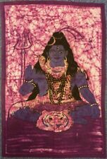 Indian Batik Lord Shiva Hindu God Wall Hanging Approx. Size 56 x 83 cm