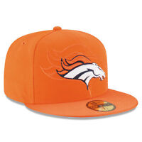Denver Broncos Orange New Era NFL 2016 Sideline 59FIFTY Fitted Hat Cap