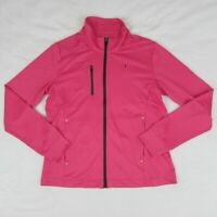 Kate Lord Women's Athletic Golf Sweater Zip up Jacket Pink Perforrmance Wicking