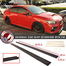 "79.75"" x 4.75"" Universal Style Side Skirt Extension Flat Bottom Line W/ Fins"