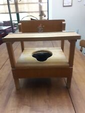 Vintage Late 1950's wood Potty Chair