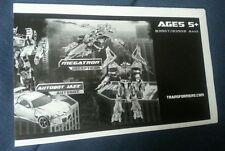Transformers Battle Mission City Megatron V. Autobot Jazz Instruction Booklet