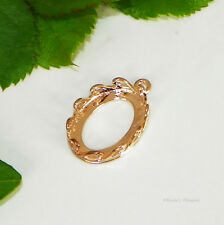 18x13 Oval Rose Gold Plated Claw Prong Cabochon (Cab) Drop Setting  #10015906