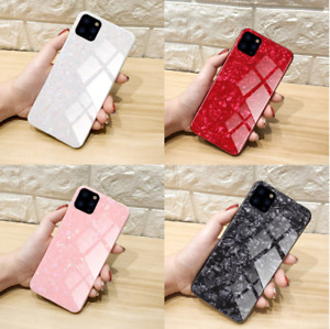 Luxury Marble Tempered Glass Case Cover For Apple iPhone 11 /11 Pro/11 Pro Max