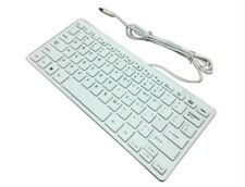 CQT 78 Keys Mini Slim Lightweight Wired USB Plastic White Keyboard Windows 7 10