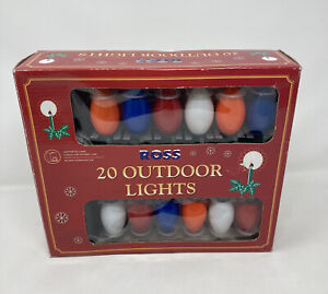 Vintage Ross 20 Outdoor Lights Christmas 1998