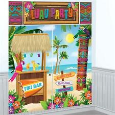 Hawaïen Luau TIKI HUT Wall Scene Setter Beach Garden Party Kit Décoration