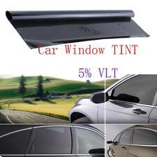 Professional Dark Smoke Black Car Window TINT 5% VLT Film 300x50cm Uncut