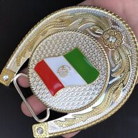 Mexico Flag Belt Buckle Western Mexican Cowboy SILVER HIGH QUALITY Guaranteed