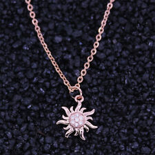 Fashion Necklaces Pendants Crystal Sun Flower Necklace Women Collares Jewelry