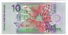 Suriname   10  gulden  2000    FDS  UNC  pick 147      lotto 3233