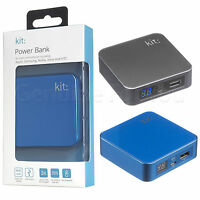 Genuine KIT 6000 mAh Portable LED Smartphones USB Charger External Power Bank