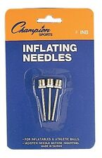 Champion Pack of 3 Soccer, Basketball, Football, Sports Balls Inflating Needles