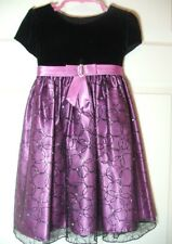 Girls Dress LOVE by Specialoccasions.com SIZE 4 Sparkley Lace over Purple Velvet