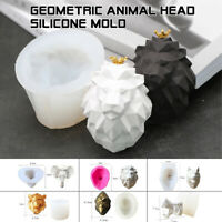 3D Mold Cute Elephant lion head Silicone Craft Cake Chocolate Soap DIY Mold NEW