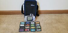 Nintendo Game Boy Advance eReader Bundle Glacier Handheld System W/16 Games