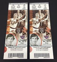 2 Phoenix Suns vs Philadelphia Unused Tickets Jan 2 2003 NBA America West Arena