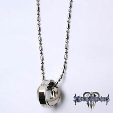 Kingdom Hearts 2 Crown Rotating Ring Pendant Key Blade Necklace Halskette Gift