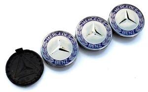 4x for Mercedes Benz 75mm Wheel Center Caps Wreath Rim Hubcaps logo S E SLK AMG